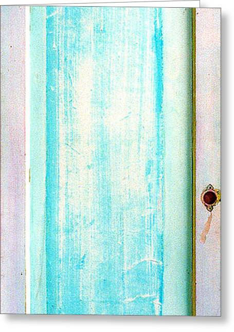 Recently Sold -  - Print Sculptures Greeting Cards - Sky Blue Entrance Entre Vous Greeting Card by Asha Carolyn Young