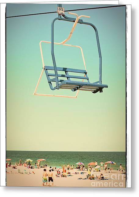 Ocean Photography Greeting Cards - Sky Blue - Sky Ride Greeting Card by Colleen Kammerer