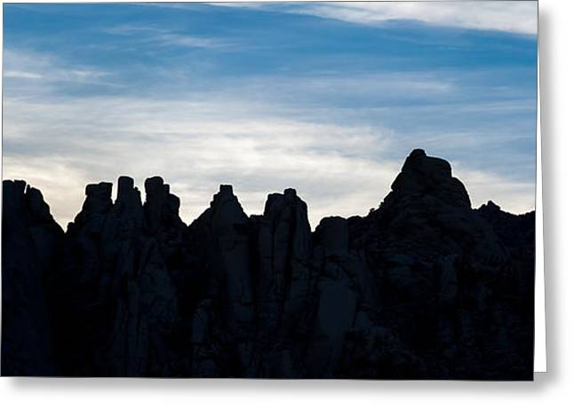 Mojave Desert Greeting Cards - Sky Castles - The Mojave Greeting Card by Peter Tellone
