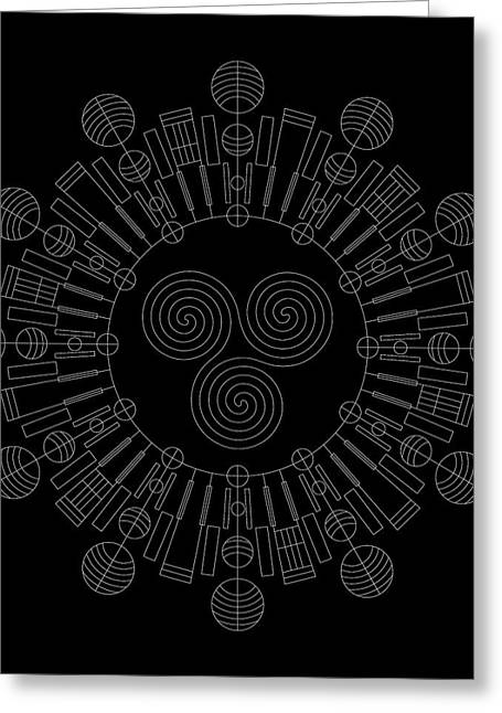 Hieroglyph Greeting Cards - Sky Chief Inverse Greeting Card by DB Artist