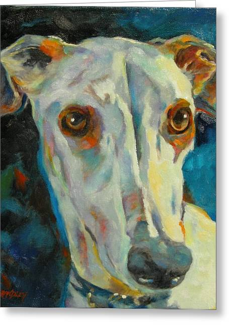 Greyhound Dog Paintings Greeting Cards - Sky Greeting Card by Chris Brandley