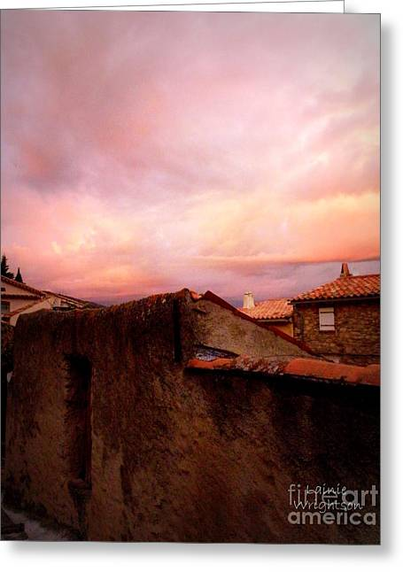 Grimaud Greeting Cards - Sky Drama Greeting Card by Lainie Wrightson