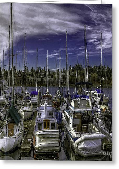 Docked Sailboats Greeting Cards - Sky Embrace Greeting Card by Jean OKeeffe Macro Abundance Art