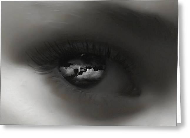 Sky Eye Greeting Card by Kristie  Bonnewell