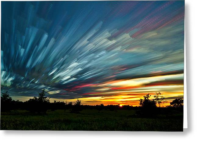 Stack Greeting Cards - Sky Feathers Greeting Card by Matt Molloy