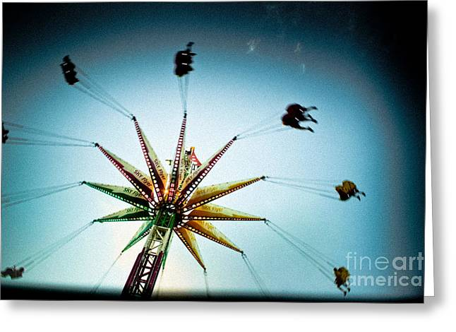 Flyer Greeting Cards - Sky Flyer Greeting Card by Colleen Kammerer