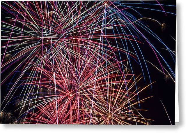 Sky Full Of Fireworks Greeting Card by Garry Gay