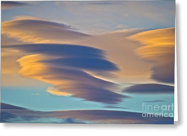 Pastel Palette Greeting Cards - Sky Ghosts... Greeting Card by Nina Stavlund