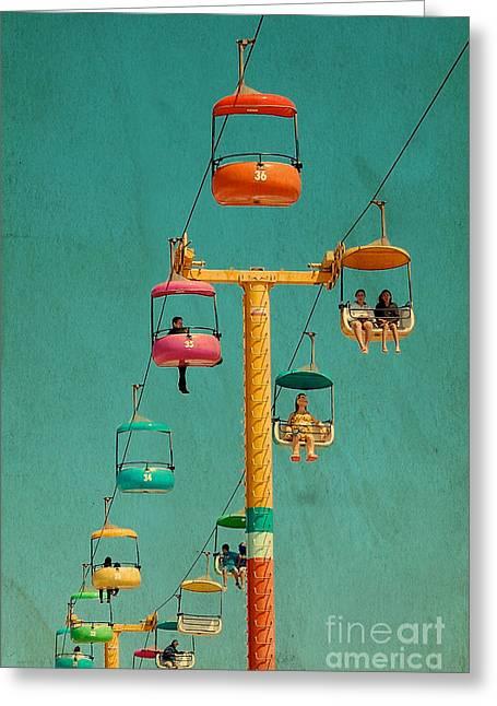 Santa Cruz Art Greeting Cards - Sky Glider Greeting Card by Susy Gascoyne