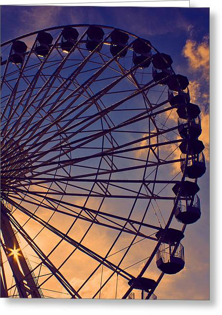 Amusements Greeting Cards - Sky High Greeting Card by Tom Gari Gallery-Three-Photography