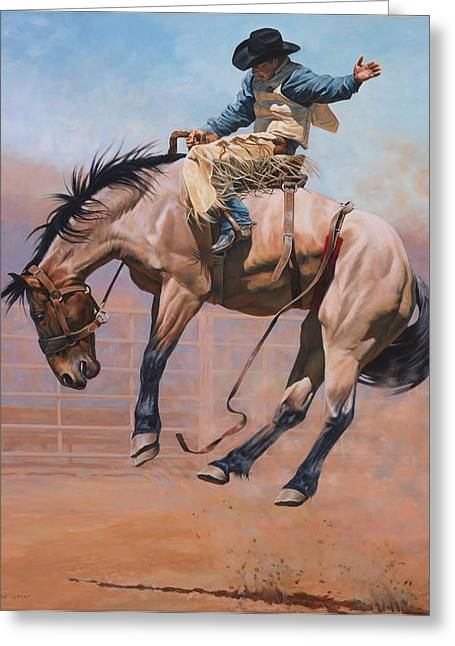 Horses Paintings Greeting Cards - Sky High Greeting Card by JQ Licensing