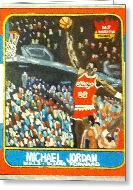 Michael Jordan Greeting Cards - Sky High Greeting Card by Mj  Museum