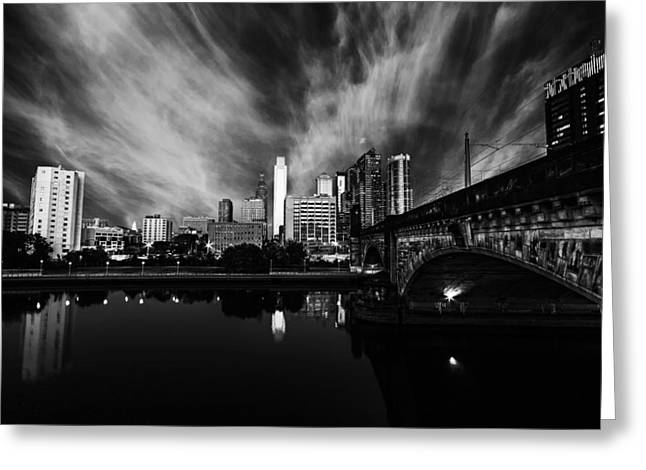Center City Greeting Cards - Sky High Greeting Card by Rob Dietrich