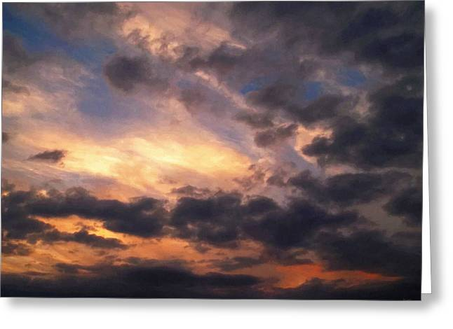 Meditative Greeting Cards - Sky Moods - Depth Greeting Card by Glenn McCarthy