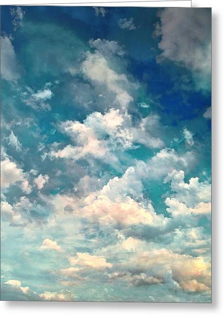 Large Scale Digital Art Greeting Cards - Sky Moods - Refreshing Greeting Card by Glenn McCarthy