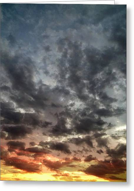 Awe Inspiring Greeting Cards - Sky Moods - Spectrum Greeting Card by Glenn McCarthy