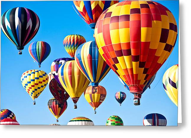 Balloon Fiesta Greeting Cards - Sky of Color Greeting Card by Shane Kelly