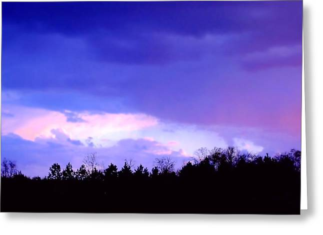 Charlotte Digital Art Greeting Cards - Sky of Purple Greeting Card by Morgan Carter
