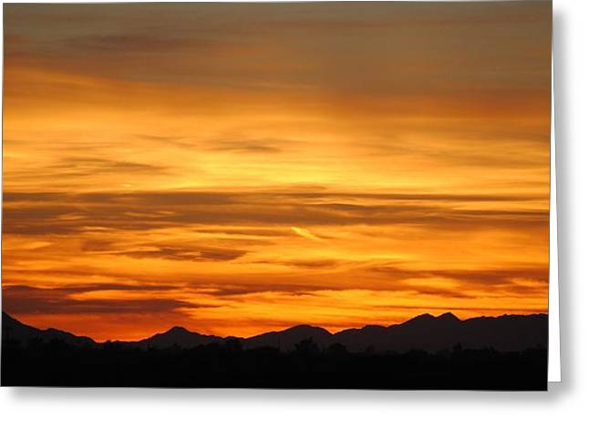 Edward Curtis Greeting Cards - Sky on Fire Greeting Card by Edward Curtis