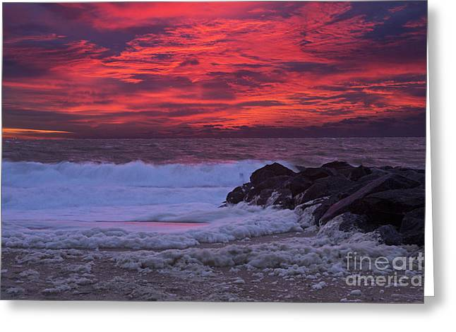 Getty Greeting Cards - Sky on Fire in Lewes Greeting Card by Robert Pilkington