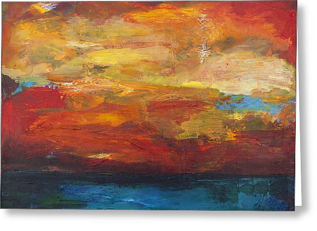 Levi Mixed Media Greeting Cards - Sky on Water Greeting Card by Stella Levi