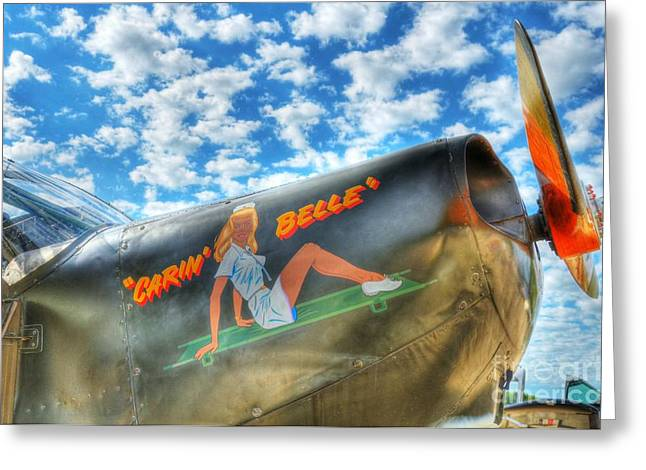 Vintage Nose Art Greeting Cards - Sky Pilot 2 Greeting Card by Mel Steinhauer