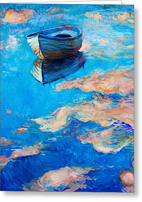Abstract Beach Landscape Greeting Cards - Sky reflecion Greeting Card by Ivailo Nikolov