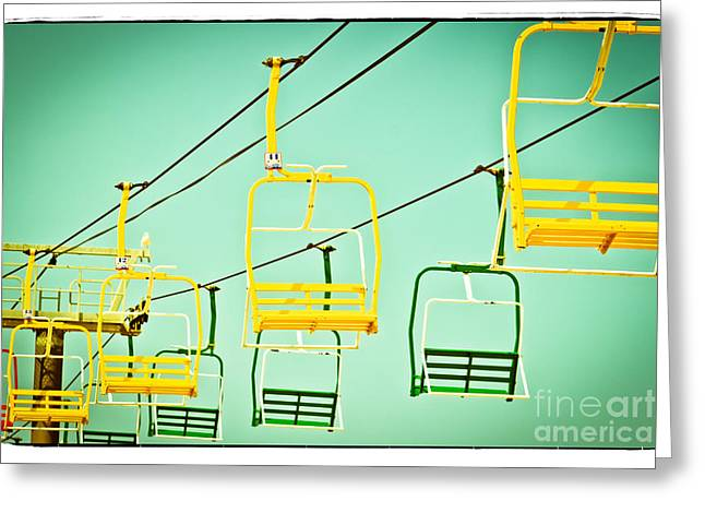 Altered Photograph Greeting Cards - Sky Ride #41 Greeting Card by Colleen Kammerer