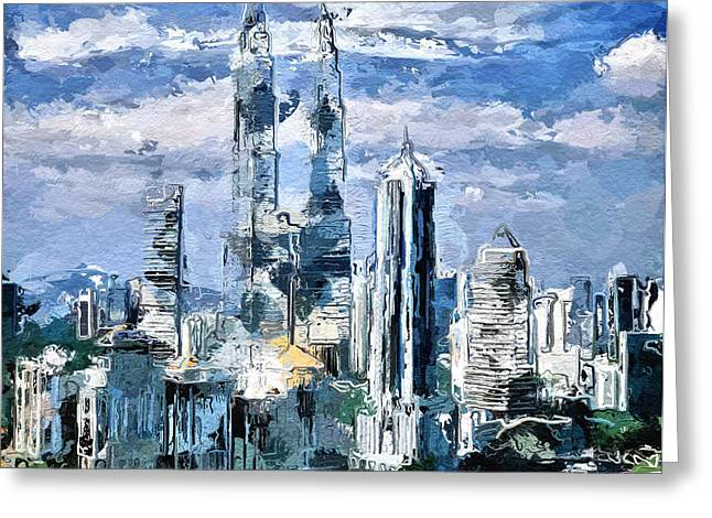 Sky Skyline Greeting Card by Yury Malkov