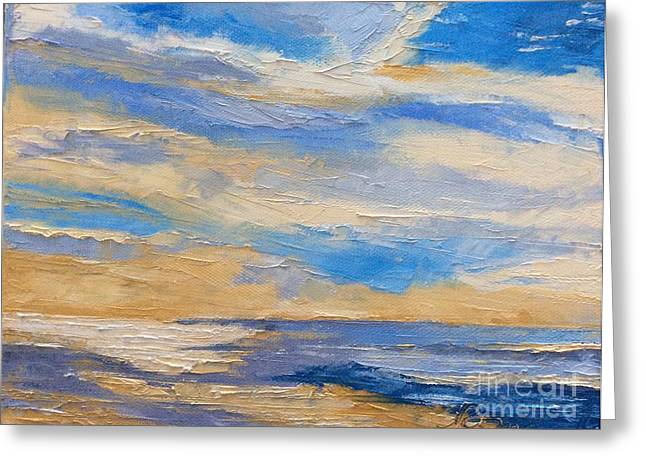 Seacape Greeting Cards - Sky at sunset Greeting Card by N Roman