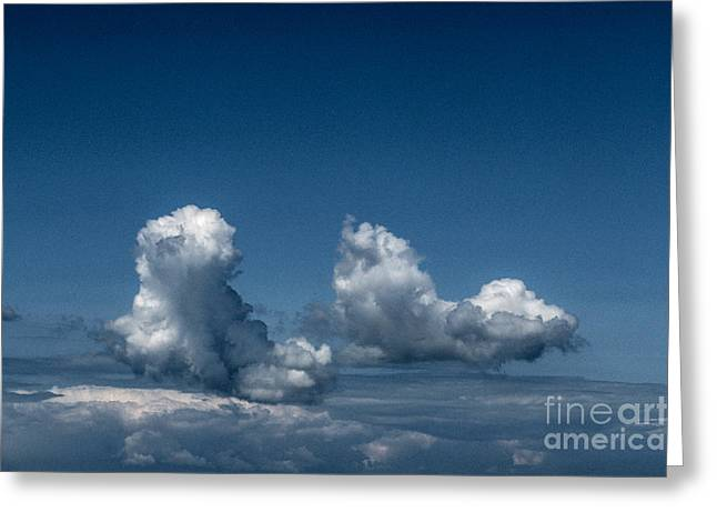 Dream Scape Greeting Cards - Sky Walking Greeting Card by Kim Lessel