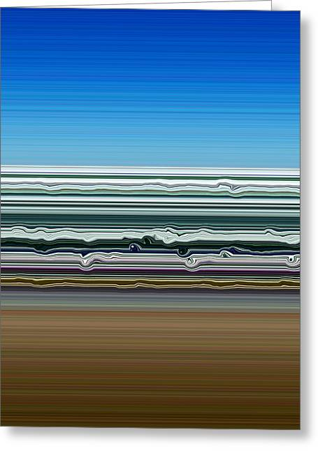 Abstract Seascape Digital Greeting Cards - Sky Water Earth Greeting Card by Michelle Calkins