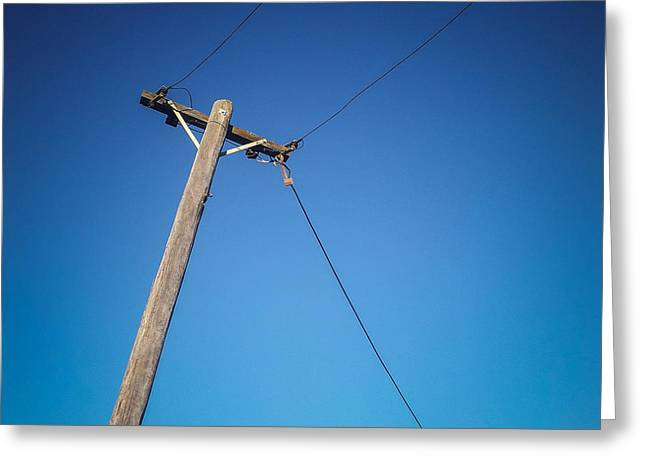 Telephone Poles Greeting Cards - Sky Wire Greeting Card by Colin and Linda McKie