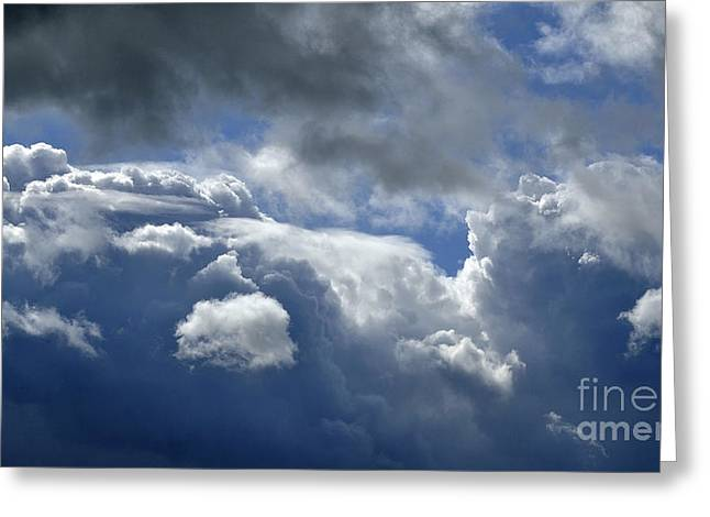 Weather Report Greeting Cards - Sky with cumulus. Greeting Card by Joel Douillet