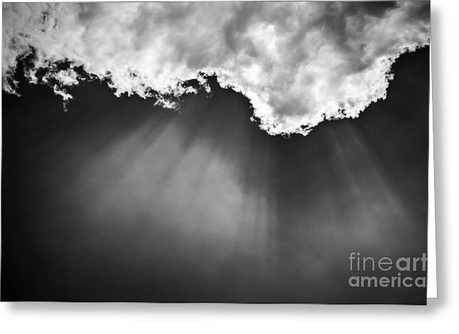 Beaming Greeting Cards - Sky with sunrays Greeting Card by Elena Elisseeva