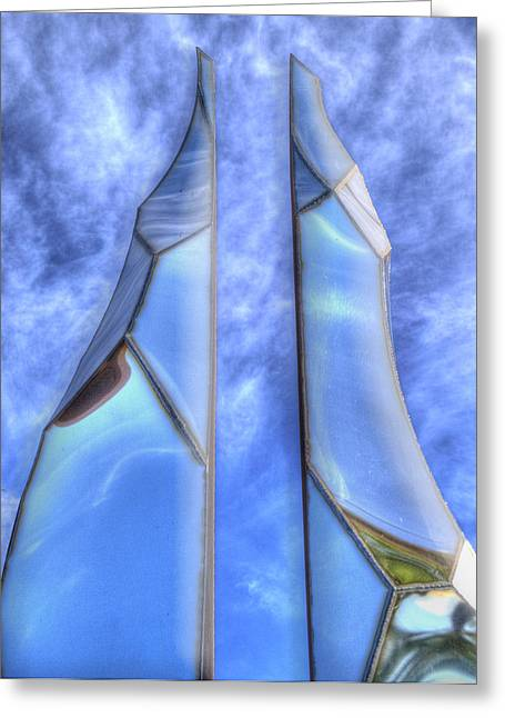 Monolith Digital Greeting Cards - Skycicle Greeting Card by Paul Wear