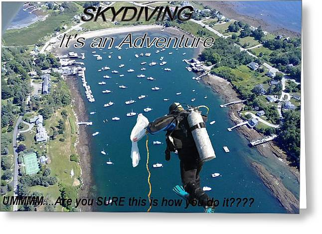 04003 Greeting Cards - Skydiving 2 Greeting Card by Donnie Freeman