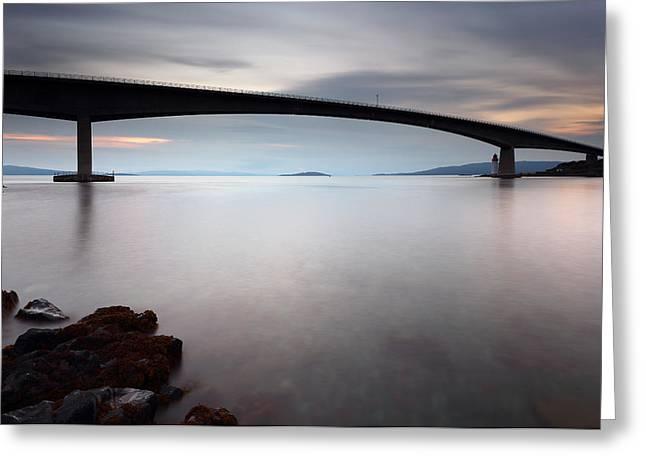 Bridge Framed Prints Greeting Cards - Skye Bridge Greeting Card by Grant Glendinning