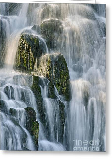 Isle Greeting Cards - Skye Waterfall Greeting Card by Rod McLean