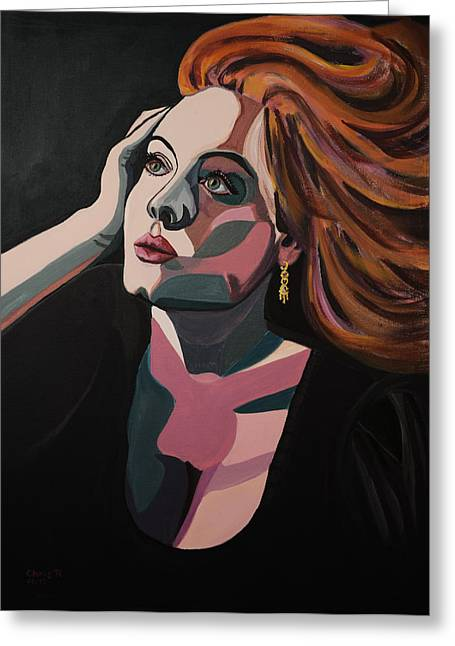 Adele Paintings Greeting Cards - Skyfall Greeting Card by Christel  Roelandt