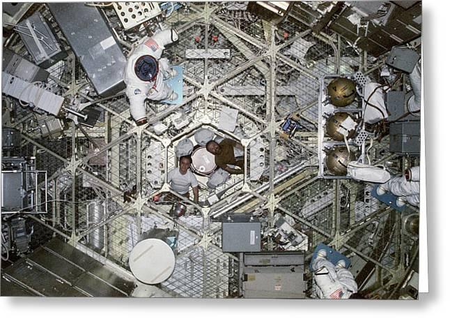 Skylab 4 Crew Greeting Card by Nasa