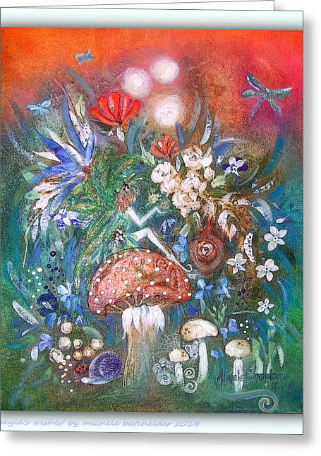 Faerys Greeting Cards - skylas Wishes Greeting Card by Michele Batchelder
