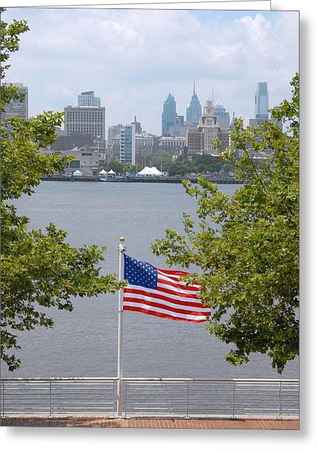 Philadelphia Framed Prints Greeting Cards - Skyline 249 Greeting Card by Joyce StJames