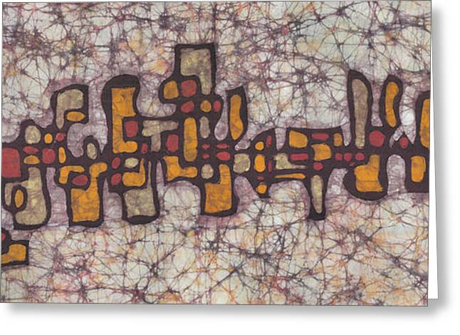 Abstract Tapestries - Textiles Greeting Cards - Skyline 3 Greeting Card by Kevin Houchin