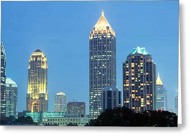 Ga Greeting Cards - Skyline Atlanta Ga Usa Greeting Card by Panoramic Images