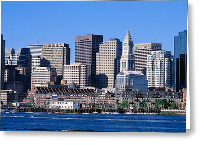 Boston Ma Greeting Cards - Skyline, Cityscape, Boston Greeting Card by Panoramic Images