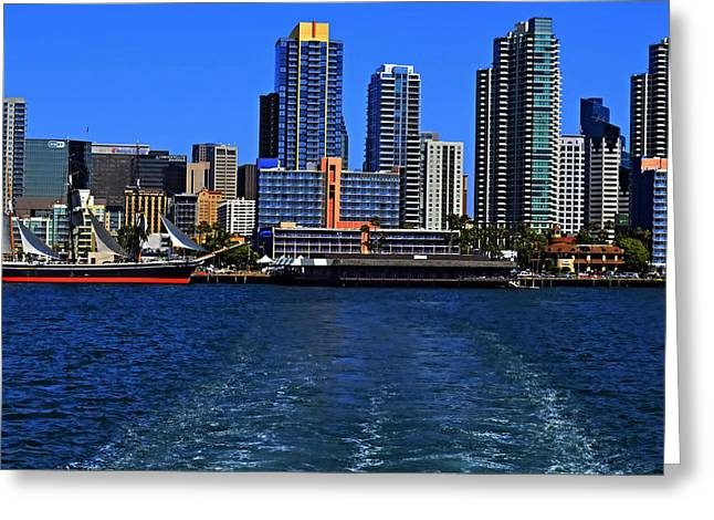 San Diego Harbor Cruise Greeting Cards - Skyline Diego Greeting Card by See My  Photos