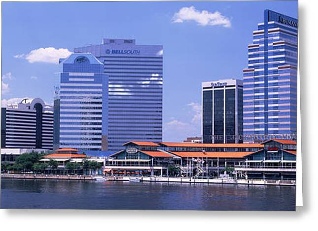 Jacksonville Greeting Cards - Skyline Jacksonville Fl Usa Greeting Card by Panoramic Images