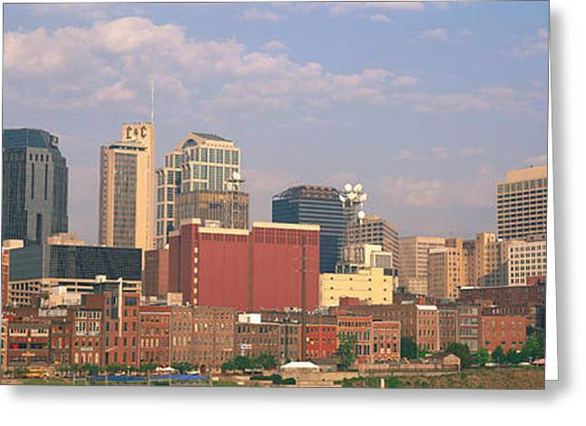 Tn Greeting Cards - Skyline Nashville Tn Greeting Card by Panoramic Images