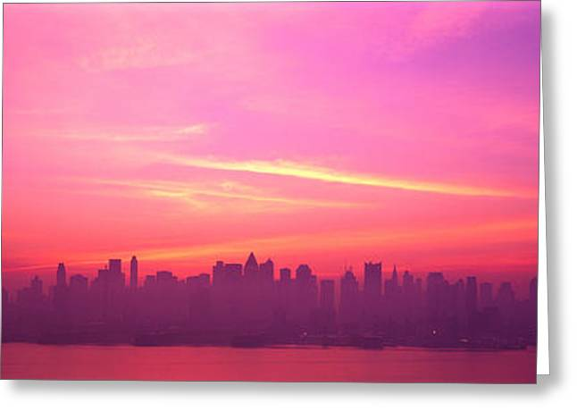 Haze Greeting Cards - Skyline, Nyc, New York City, New York Greeting Card by Panoramic Images